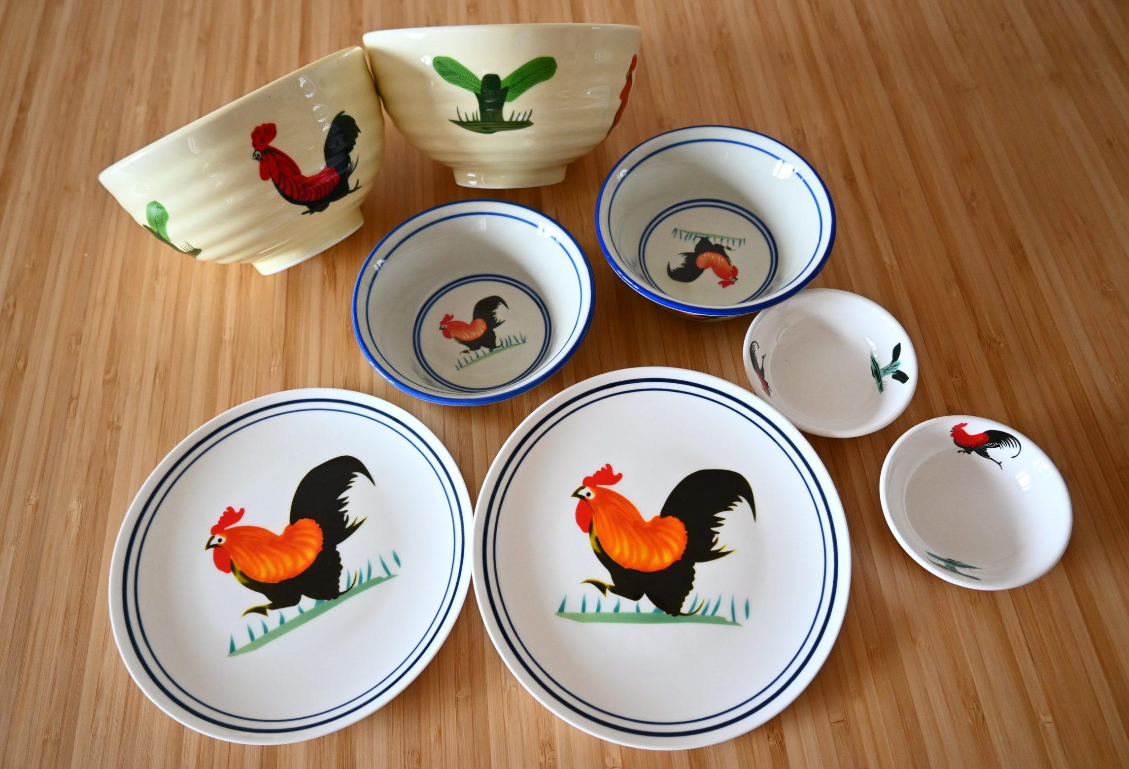 「香港あるある」な鶏柄のお皿を爆買いしてきた。@元朗